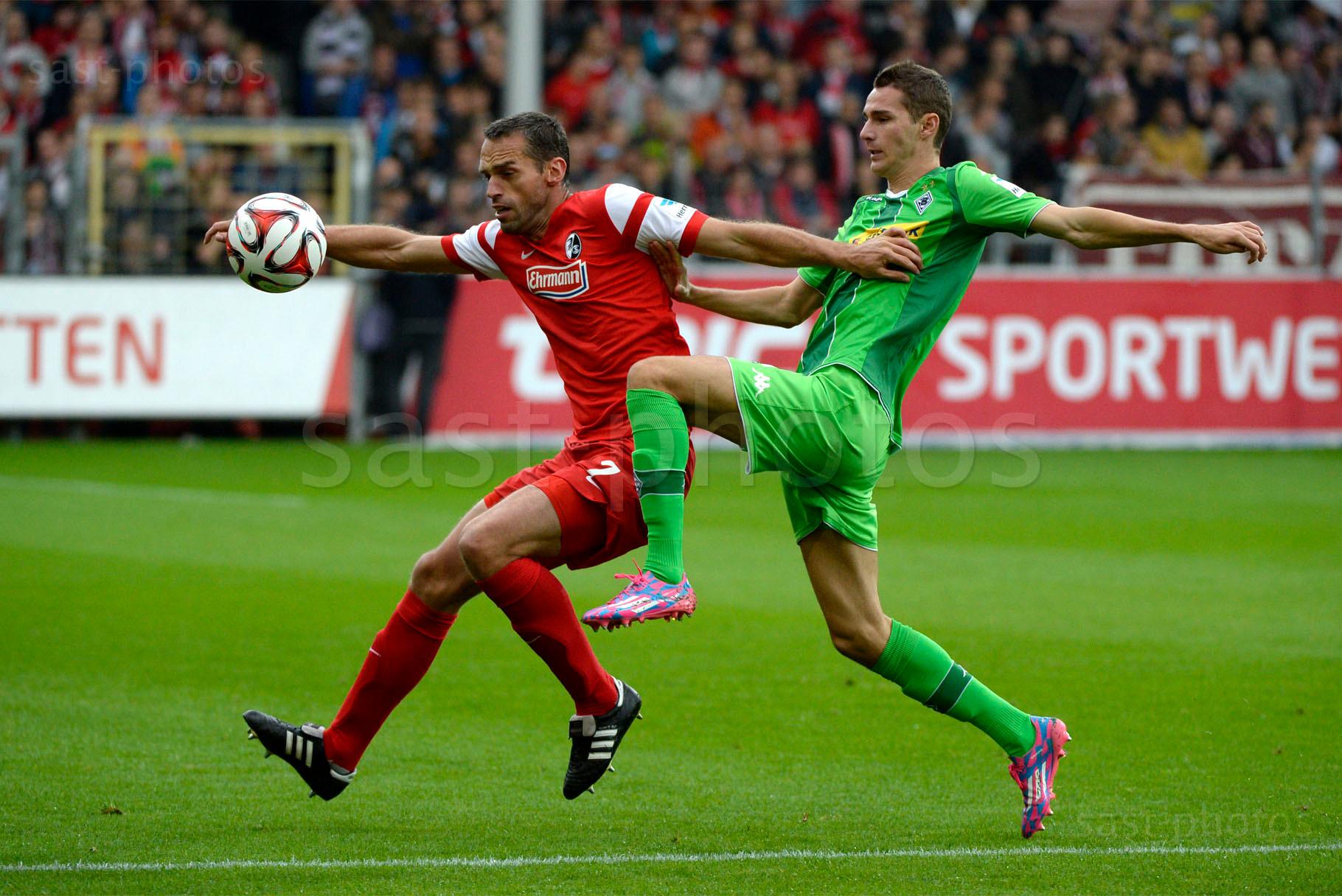 Pavel Krmas (L. Freiburg) gegen Branimir Hrgota (Gladbach)