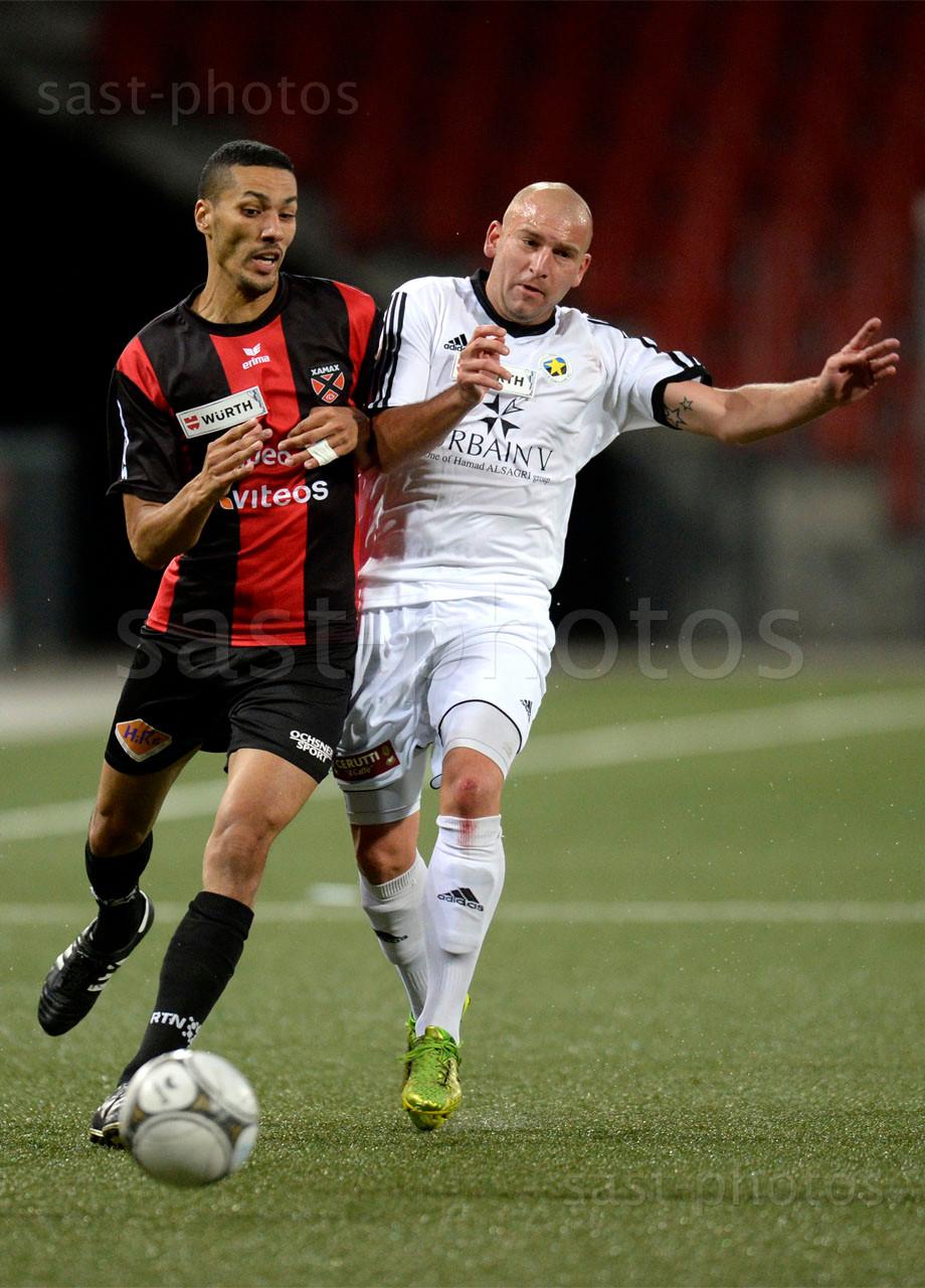 Yassine El Allaoui (L. Xamax FCS) gegen Jeremy Pauchard (Carouge)