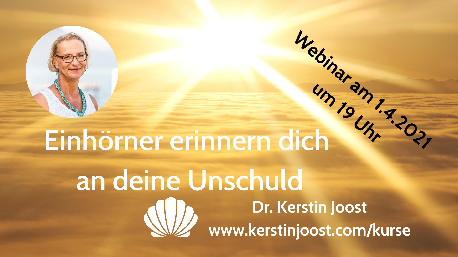 Einhorn-Webinar vor Ostern: Du bist frei von Schuld