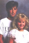 Eric and his sister Tori in the late 80s