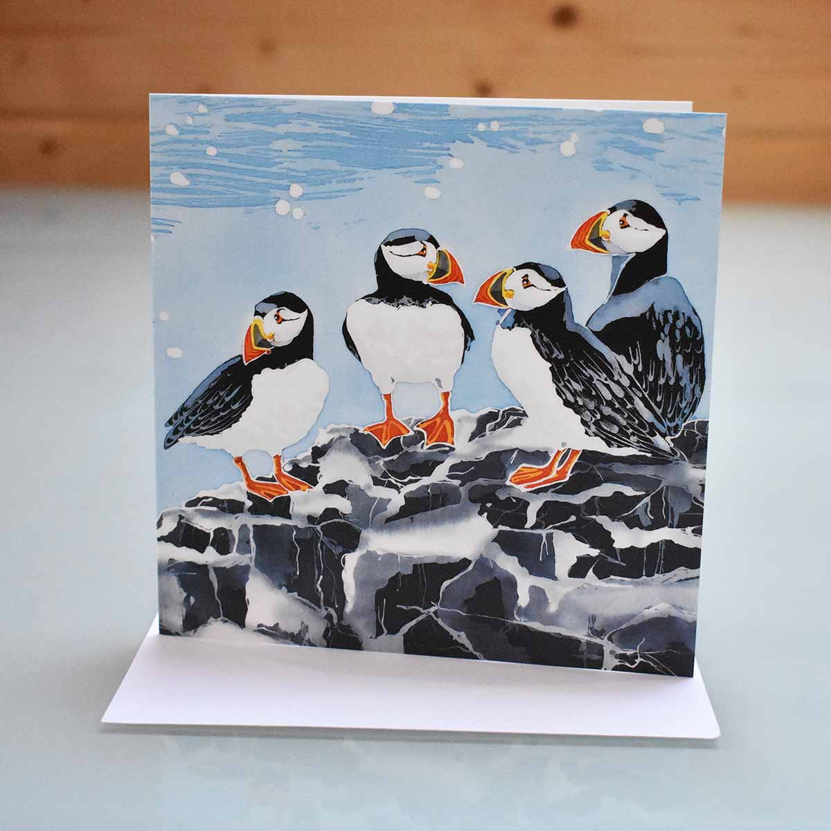 Greeting cards marie therese king batik art farne island puffins greeting card kristyandbryce Gallery