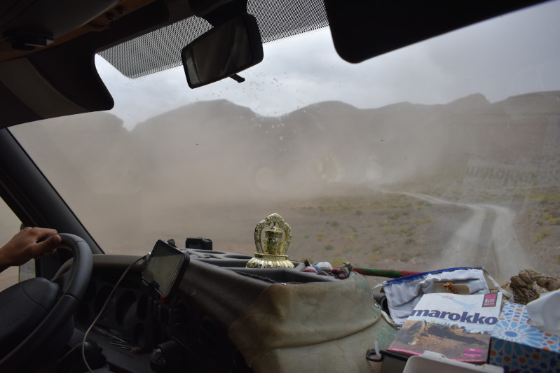 hier oben ein Sandsturm