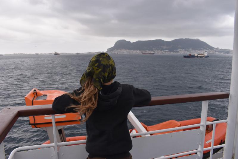 Englisches Wolkenwetter über Gibraltar