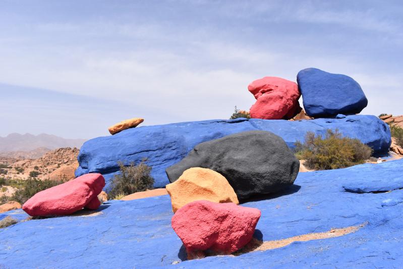 Die bunten Felsen bei Tafraoute
