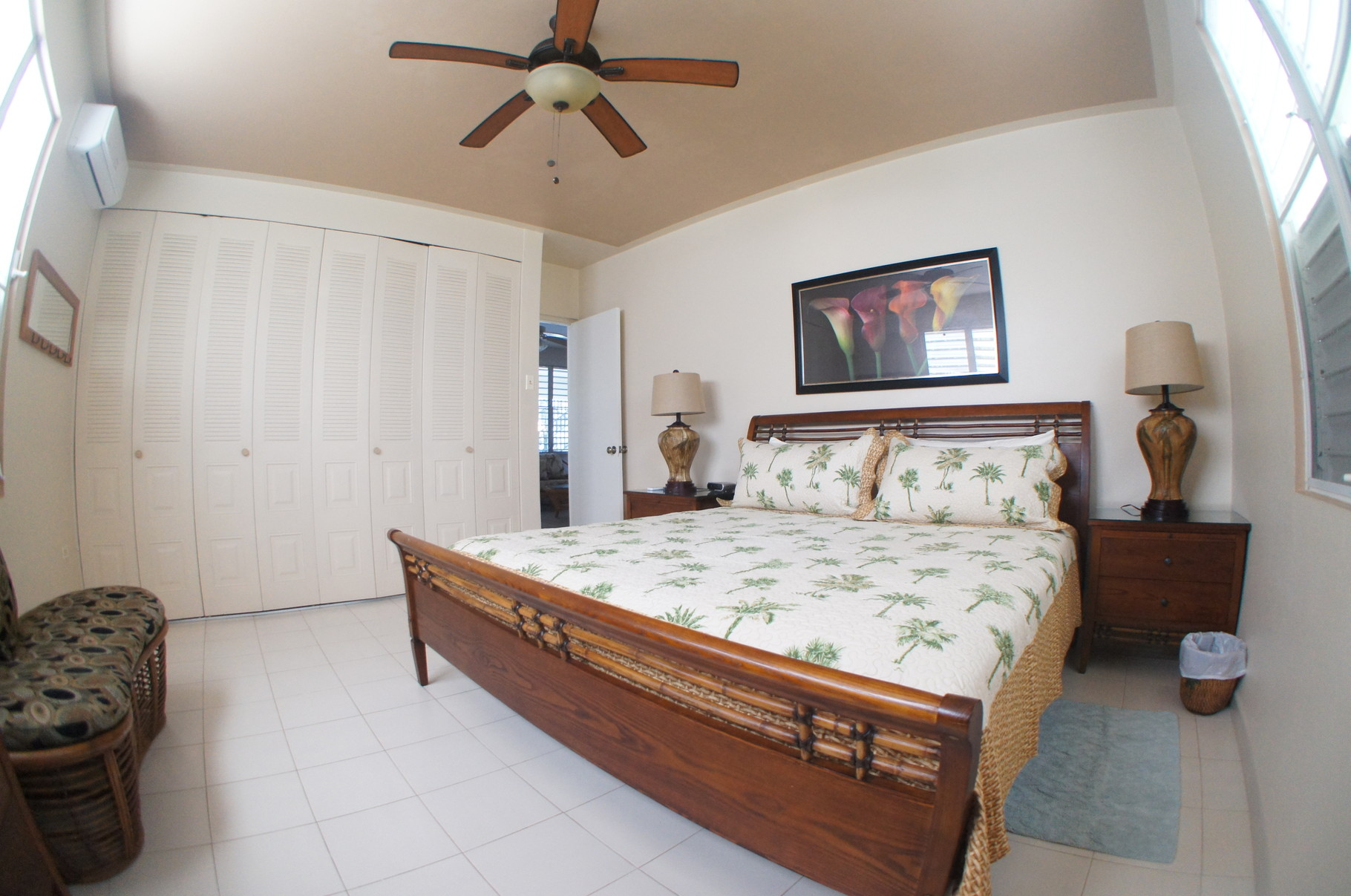 First Level Bedroom with King Bed