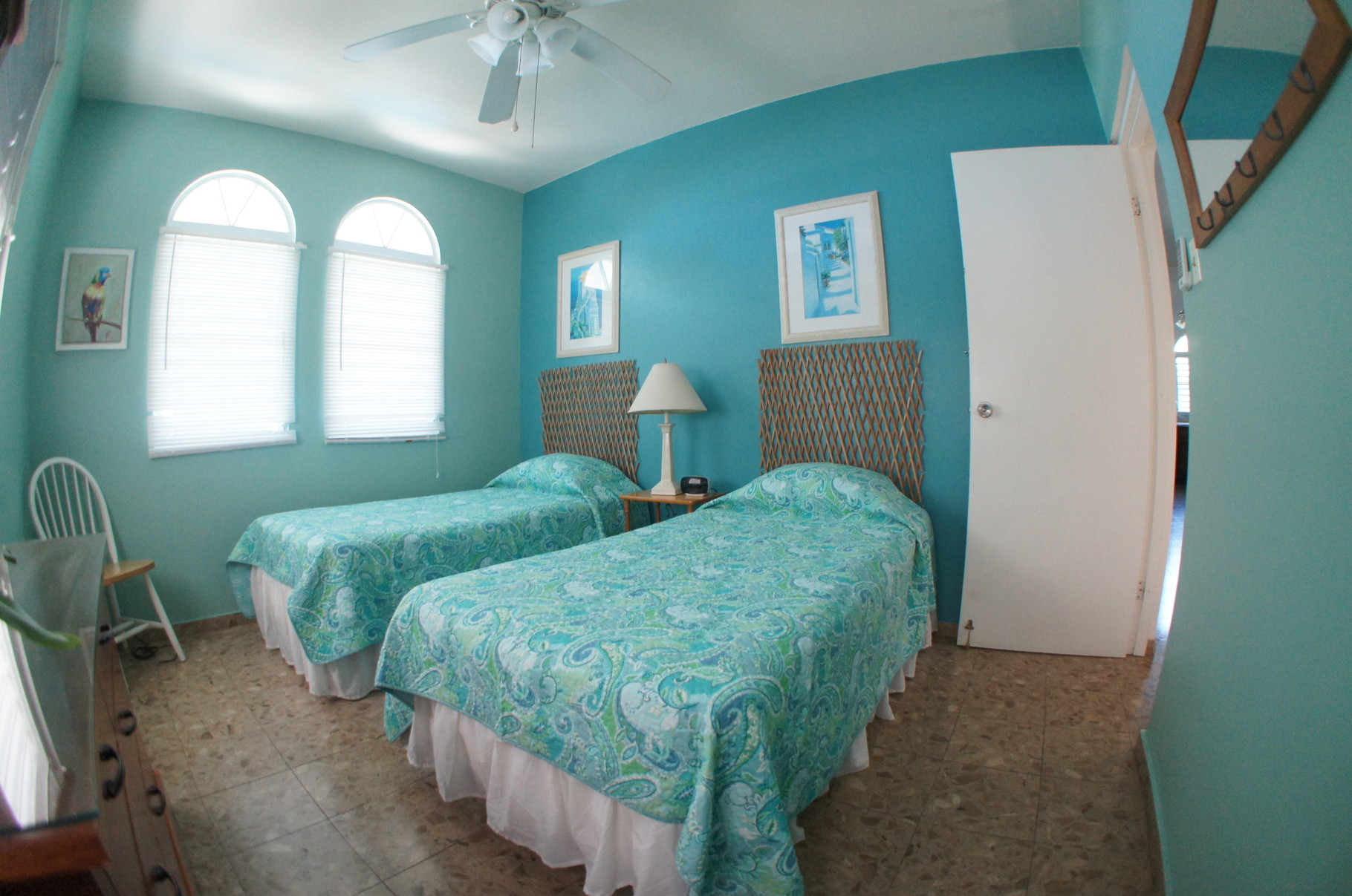 Upstairs 3rd Bedroom with Two Twin Beds