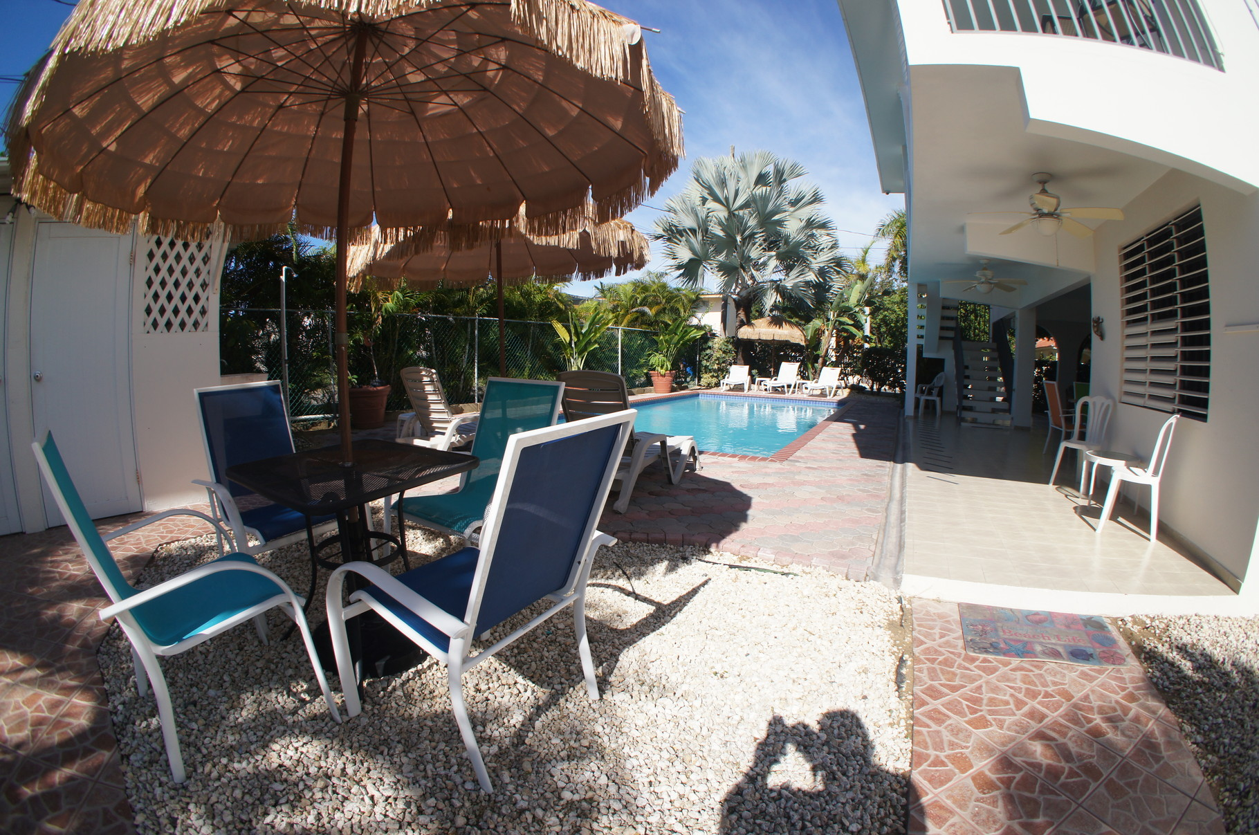 Second Poolside dining area