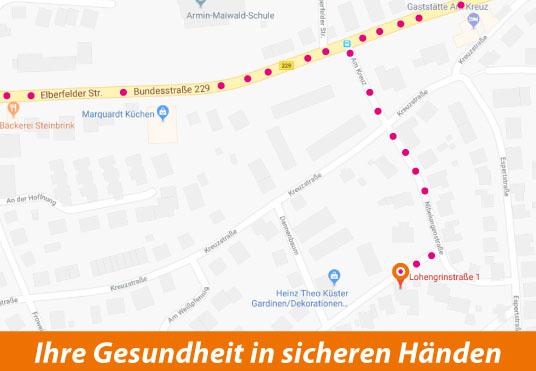ALCEMED Anfahrt auf Google Maps