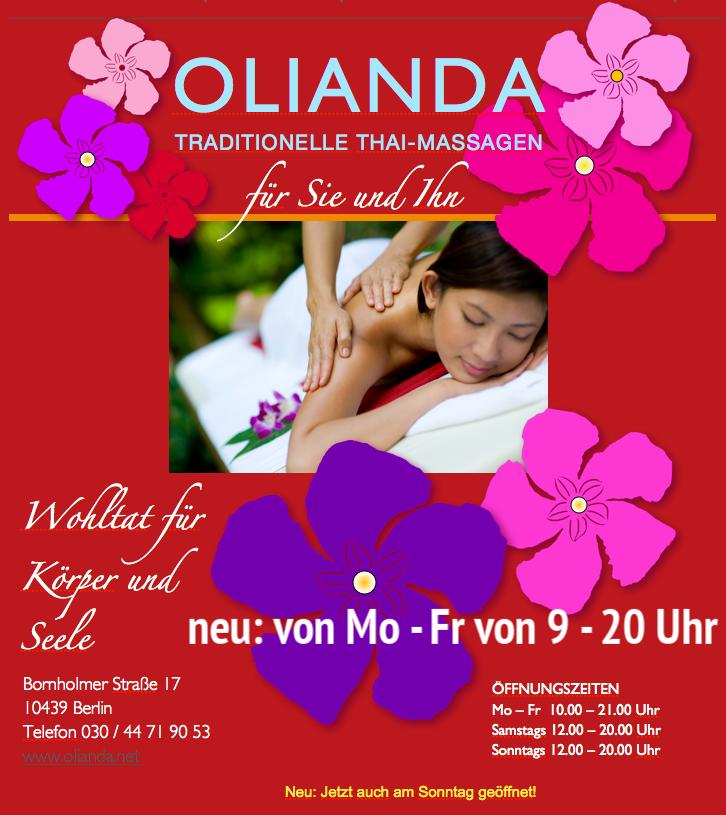 www.olianda.de homepage traditionelle Thaimassage Berlin Prenzlauer Berg