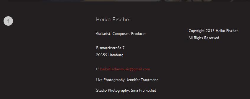 Heiko Fischer/u.a. Stanfour. Website www.heikofischer.com