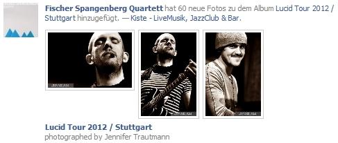 Fischer Spangenberg Quartett: Bilder auf dem Facebook-Profil
