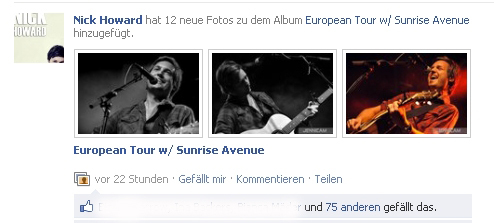 Nick Howard auf Facebook