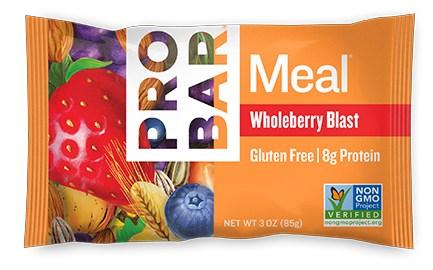 Pro Bars sind klasse und eine volle Mahlzeit, Wholeberry Blast unschlagbar.