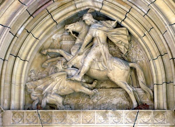 Charles Dufraine (1872) Saint Georges terrassant le dragon