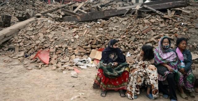 Népal - Katmandou - Séïsme (Huffington Post)