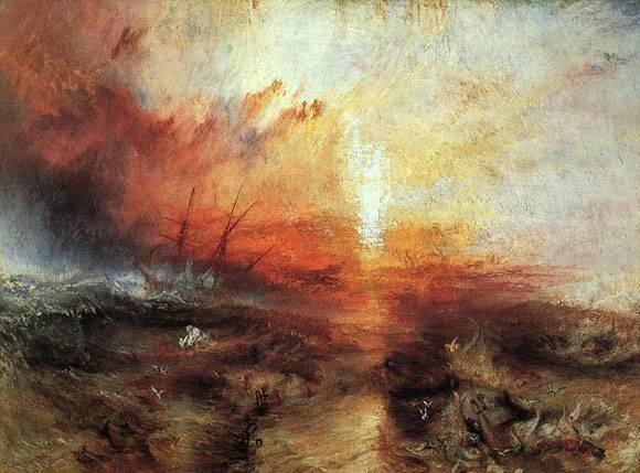 "P.M.W.Turner : ""tempête et orage en mer"""