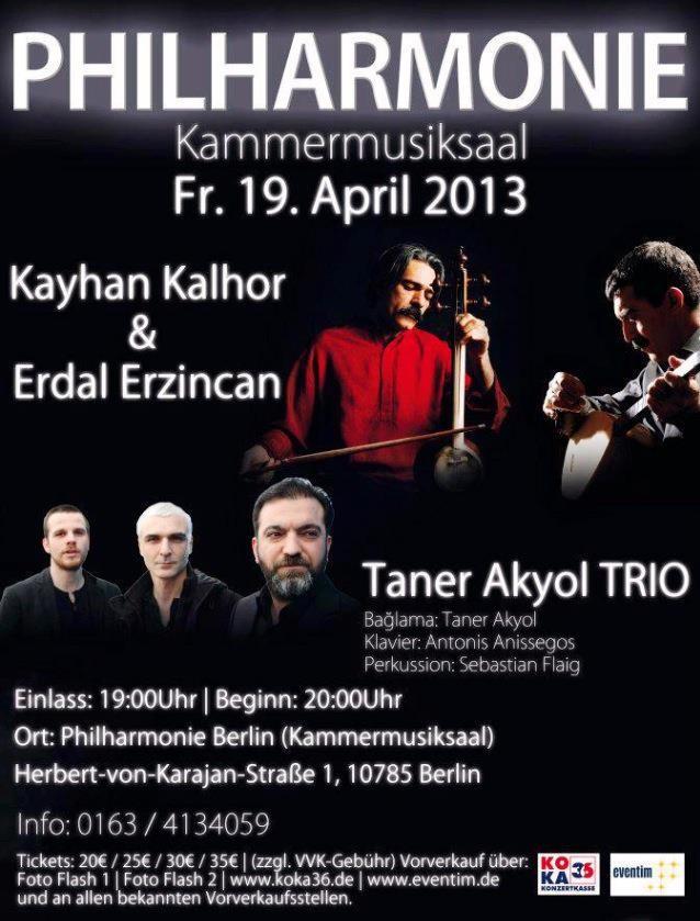 Taner Akyol Trio -Philharmonie Berlin