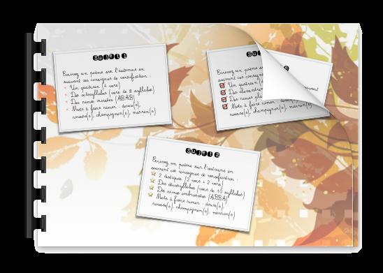 Création poétique sur l'automne