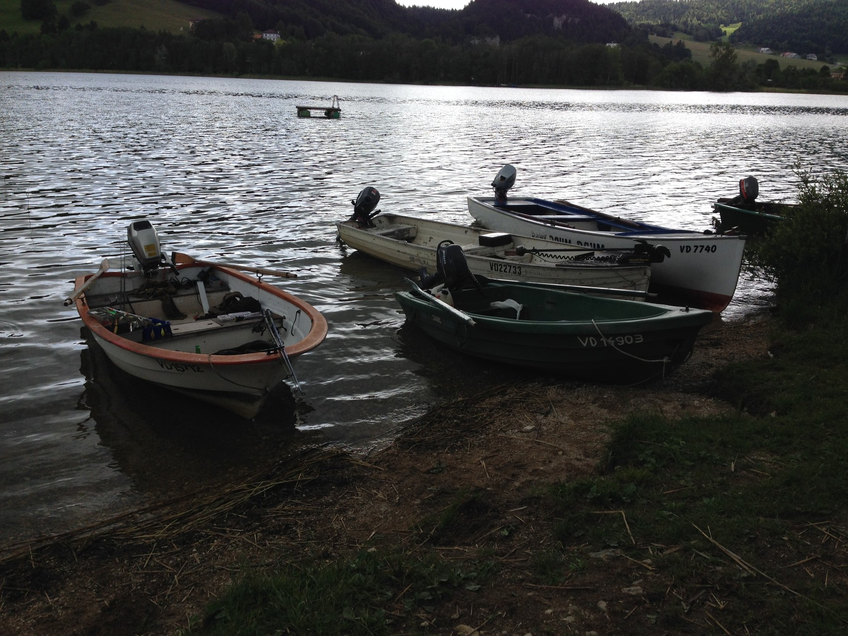 Une alignée de bateau qui montre l'engouement des participants