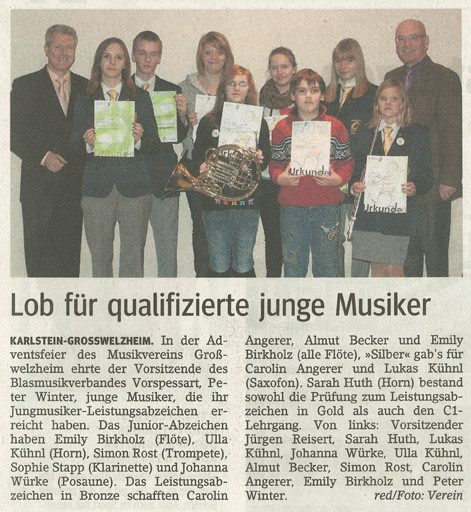 Adventsfeier 2010, Main-Echo v. 16.12.2010