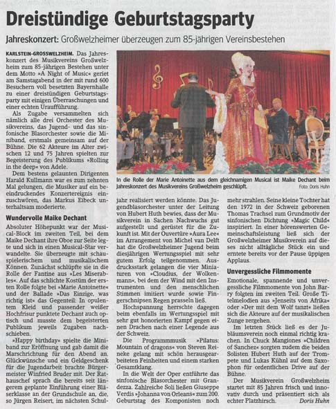 Jahreskonzert 2013, Main-Echo v. 02.12.2013