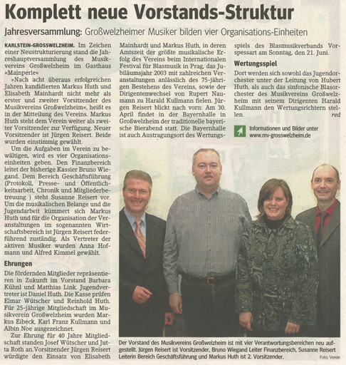 Jahreshauptversammlung 2009, Main-Echo v. 26.03.2009