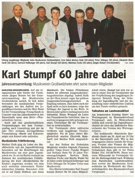 Jahreshauptversammlung 2012, Main-Echo v. 22.03.2012