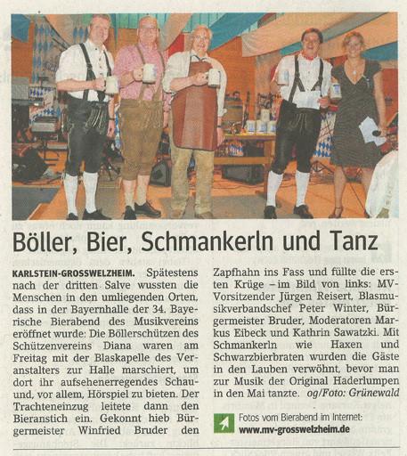 Bayerischer Bierabend 2010, Main-Echo v. 04.05.2010