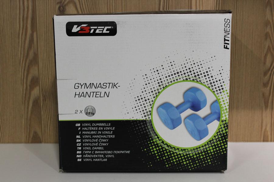 V3Tec Gymnastik Hanteln 2×3,0kg Farbe: blau Preis: 12,95€