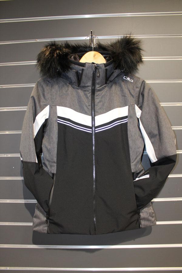 CMP Zip Hood Damen Skijacke Wassersäule:10.000mm, Atmungsaktivität 5.000g/m²/24 Farbe: black, grey Preis: 199,99€ >Reduziert: 144,99€