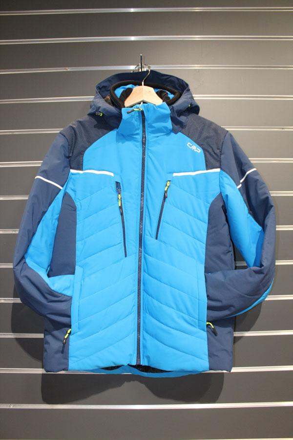 CMP Zip Hood Männer Skijacke Wassersäule:7.000mm, Atmungsaktivität 5.000g/m²/24 Farbe: blau Preis: 179,99€ >Reduziert: 129,95€