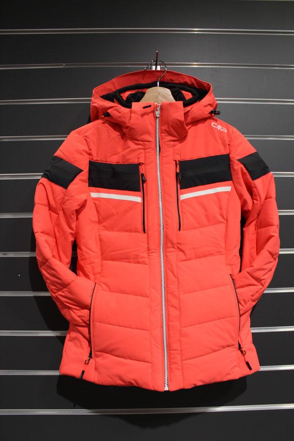 CMP Zip Hood Damen Skijacke Wassersäule:7.000mm, Atmungsaktivität 5.000g/m²/24 Farbe: red fluo Preis: 169,99€ >Reduziert: 129,99€