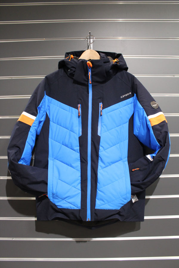 Icepeak Flaxville Männer Skijacke Wassersäule:10.000mm, Atmungsaktivität 5.000g/m²/24 Farbe: black, blue Preis: 199,99€ >Reduziert: 149,99€