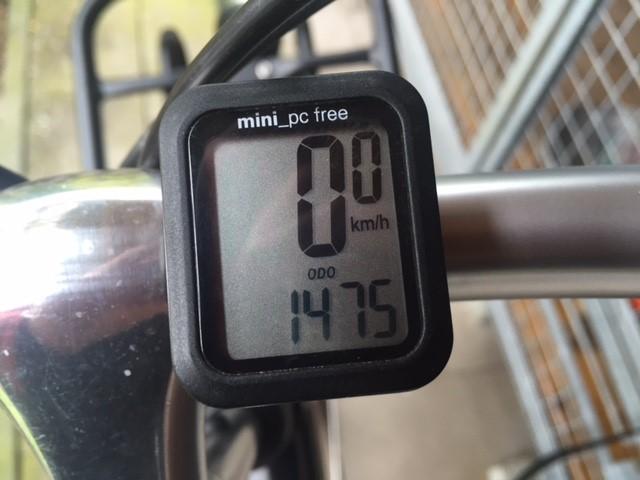 Gefietste kilometer met de Gazelle sinds 1 september 2015.
