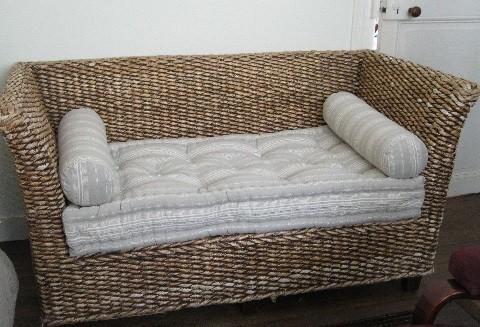 Canapé en rotin - siège fini