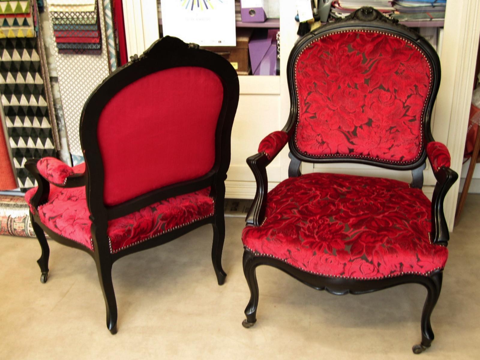 Fauteuils Napoléon III - restaurés