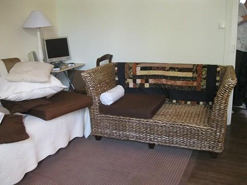 Canapé en rotin - siège avant