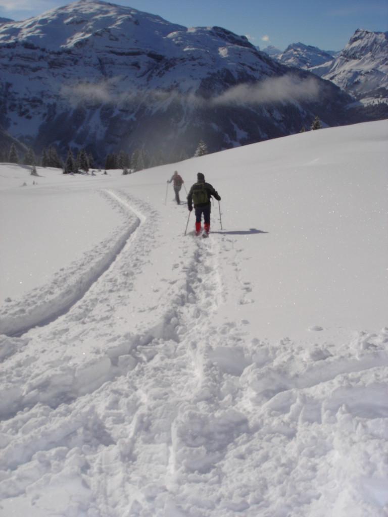 Vorwärts mit Schneeschuhen
