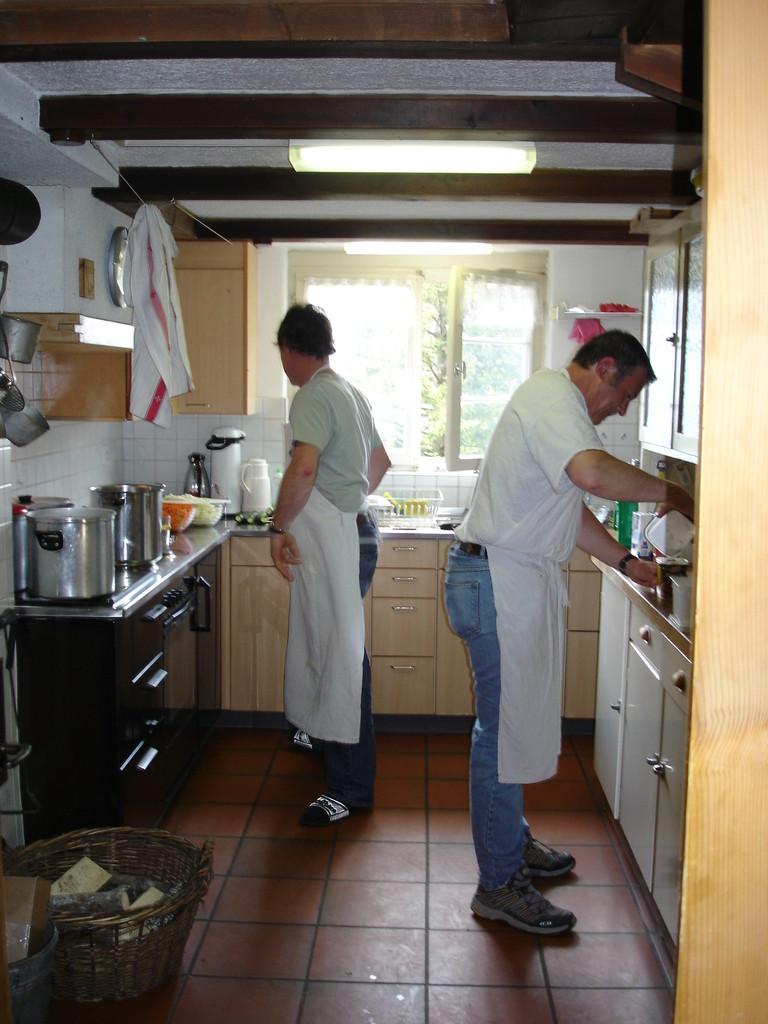 Küche im Betrieb