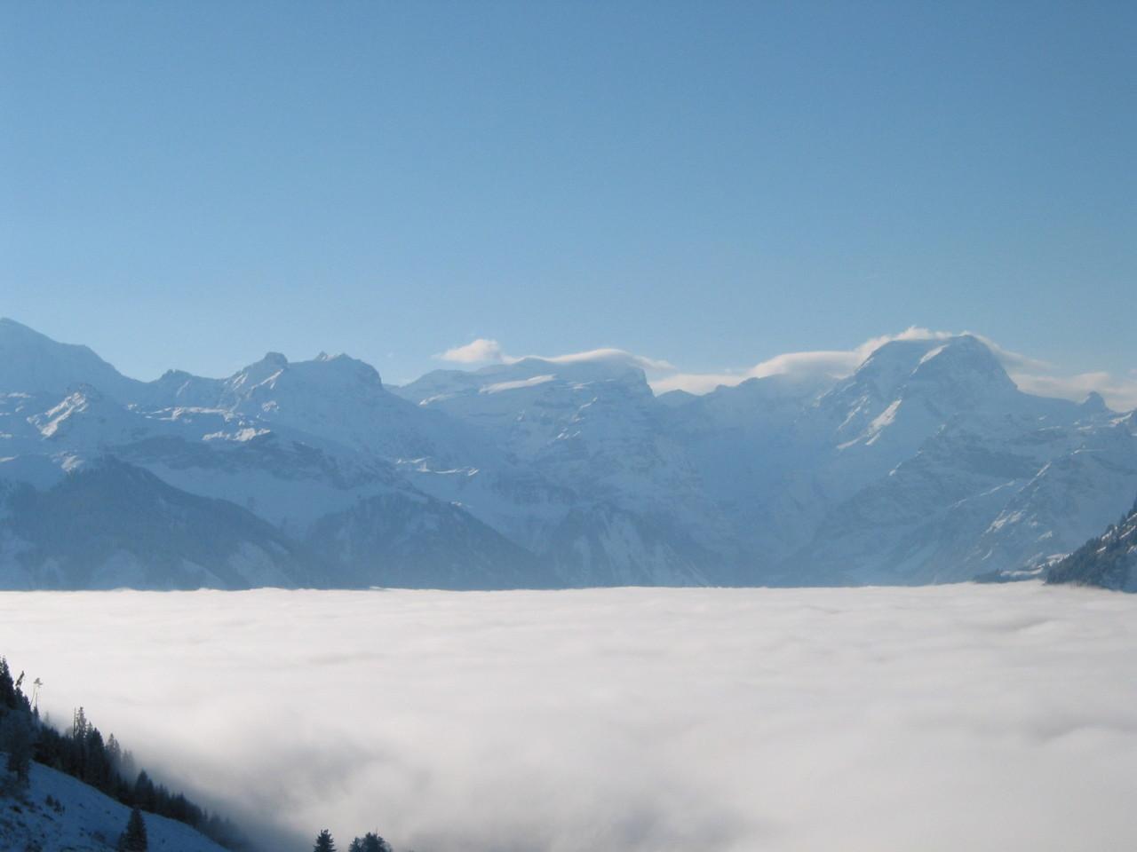 Nebelmeer vor dem Skihaus