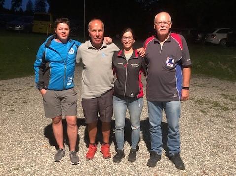 v.l: Peter  Voneschen, Armin Mani, Cornelia Valentin, Peter Dätwyler