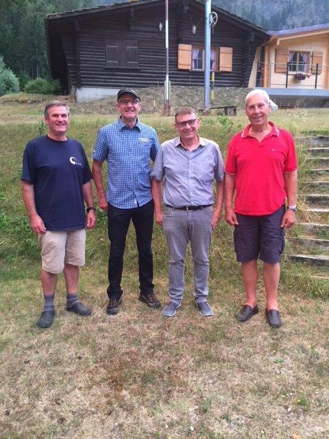 Gruppenbild der Sieger / v.l. Ernst Wunderli, Georg Maurer, Christian Lötscher, Johann Ulrich Mani