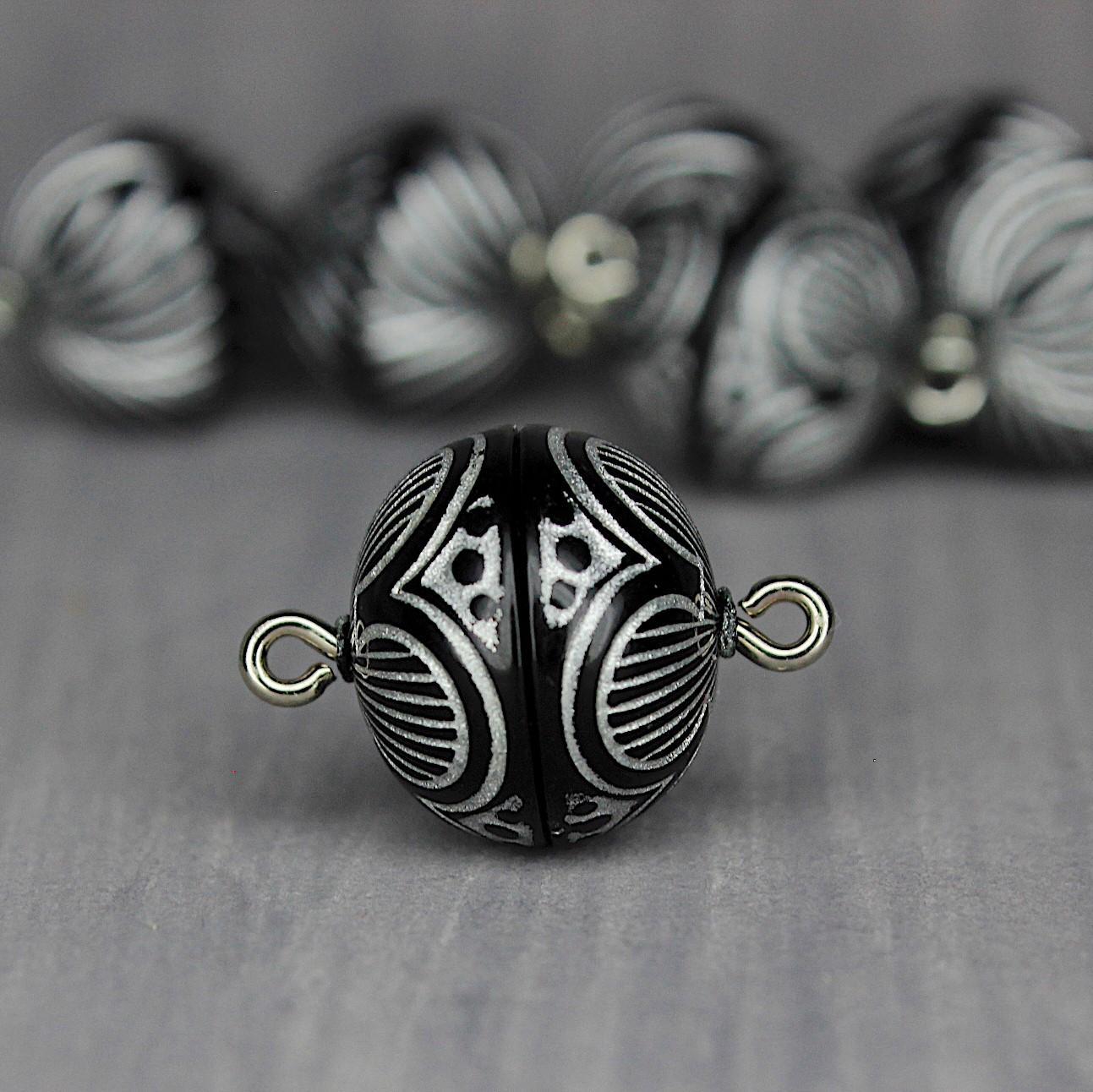 onyx-silber Ornamente 14mm