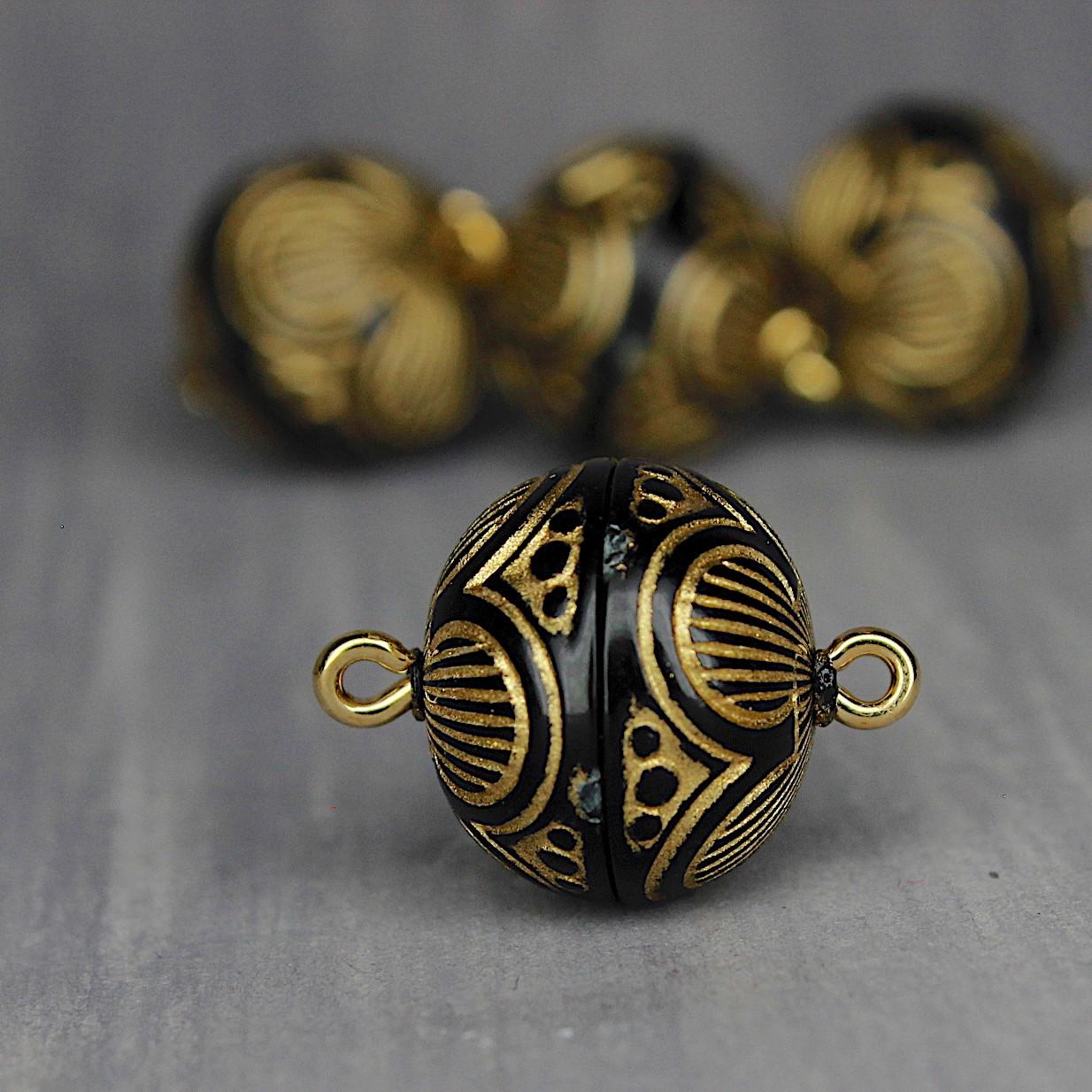 onyx-gold Ornamente 14mm