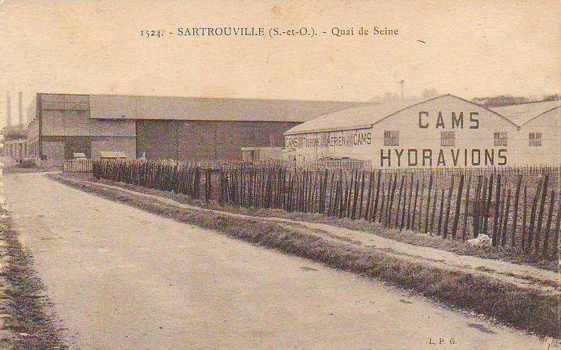 sartrouville usine hydravion cams