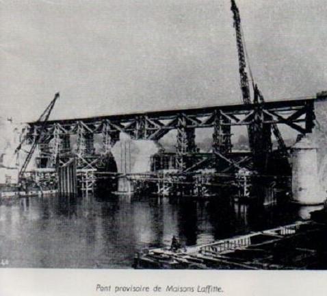 Maisons-Laffitte pont provisoire en 1952