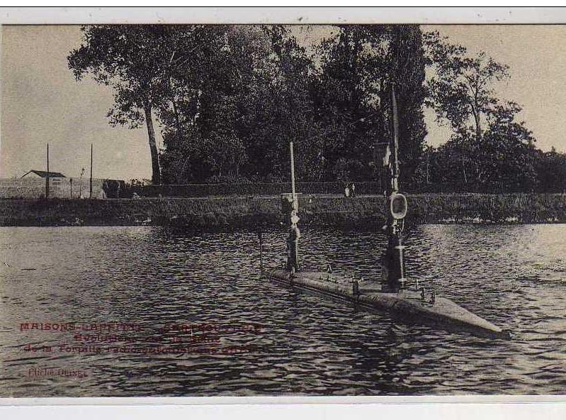 La torpille dans la Seine à Maisons-Laffitte
