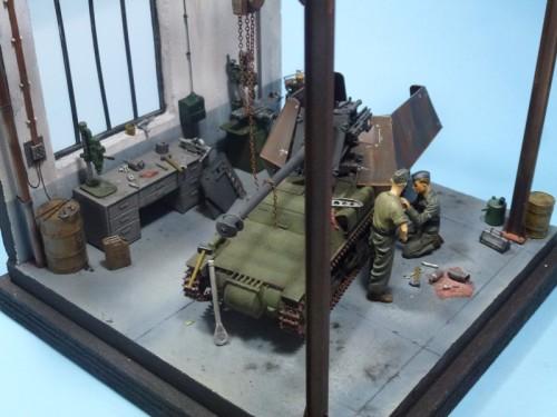 Maquette atelier du Baukommando Becker à Maisons-Laffitte été 1942