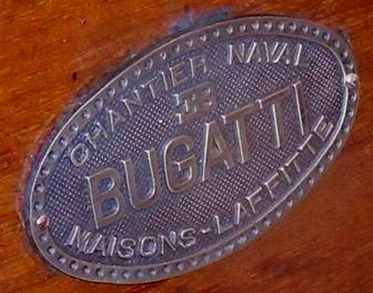 Logo du chantier naval Ettore Bugatti à Maisons-Laffitte