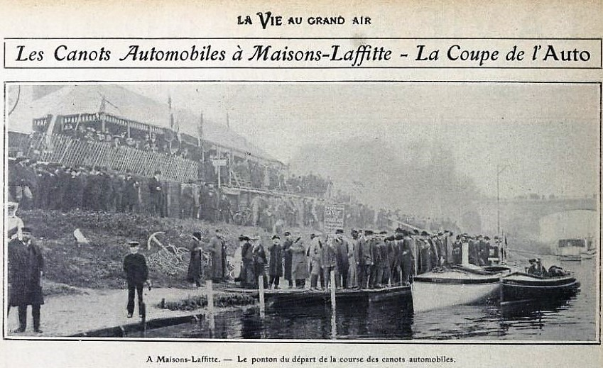 Course de canots automobiles à Maisons-Laffitte